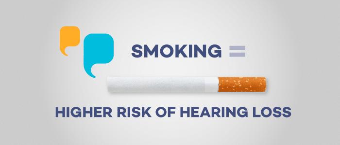 Smoking equals hearing loss